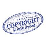 rubber stämpel för copyright-grunge Arkivbilder