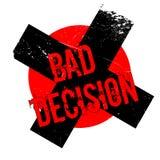 Rubber stämpel för dåligt beslut vektor illustrationer