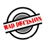 Rubber stämpel för dåligt beslut royaltyfri illustrationer