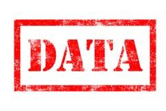 Rubber stämpel för data Royaltyfri Bild