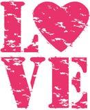 Rubber stämpel för förälskelsegrunge, vektor Arkivfoto