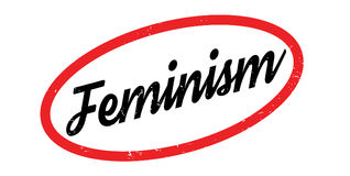Rubber stämpel för feminism stock illustrationer
