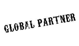 Rubber stämpel för global partner Fotografering för Bildbyråer