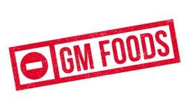 Rubber stämpel för Gm-Foods Arkivbilder