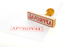 rubber stämpel för godkännande Royaltyfri Bild