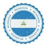 Rubber stämpel för Grunge med den Nicaragua flaggan vektor illustrationer
