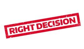 Rubber stämpel för högert beslut royaltyfri illustrationer