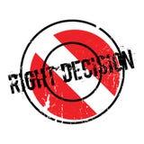 Rubber stämpel för högert beslut vektor illustrationer