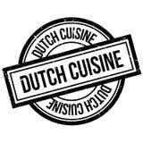 Rubber stämpel för holländsk kokkonst royaltyfri illustrationer