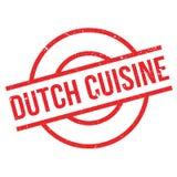 Rubber stämpel för holländsk kokkonst stock illustrationer