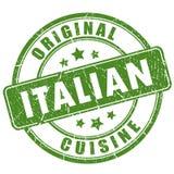 Rubber stämpel för italiensk kokkonst vektor illustrationer