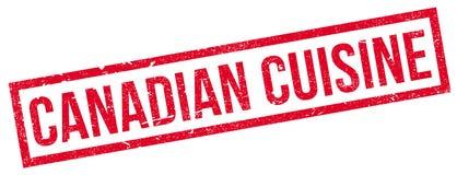 Rubber stämpel för kanadensisk kokkonst Arkivbild