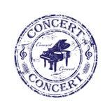 rubber stämpel för konsert Arkivfoto