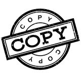 Rubber stämpel för kopia royaltyfri illustrationer