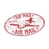 rubber stämpel för luftpost Royaltyfri Bild