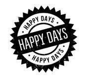 Rubber stämpel för lyckliga dagar vektor illustrationer