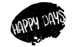 Rubber stämpel för lyckliga dagar stock illustrationer