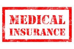 Rubber stämpel för medicinsk försäkring Arkivfoton