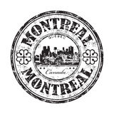 Rubber stämpel för Montreal grunge Royaltyfri Foto