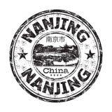 Rubber stämpel för Nanjing grunge Royaltyfri Foto