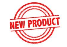 Rubber stämpel för ny produkt Arkivbild