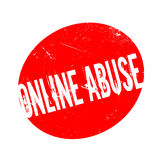 Rubber stämpel för online-missbruk vektor illustrationer