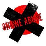 Rubber stämpel för online-missbruk royaltyfri illustrationer
