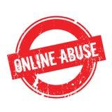 Rubber stämpel för online-missbruk stock illustrationer