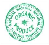rubber stämpel för orgainic produce Royaltyfria Bilder