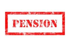 Rubber stämpel för pension Arkivfoto