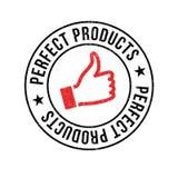 Rubber stämpel för perfekta produkter Royaltyfri Fotografi