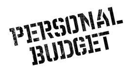 Rubber stämpel för personlig budget Arkivfoto
