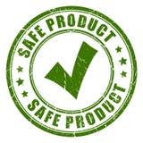 Rubber stämpel för säker produkt stock illustrationer