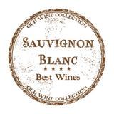 Rubber stämpel för Sauvignon Blanc grunge Arkivfoto