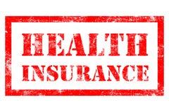 Rubber stämpel för sjukförsäkring Arkivbilder