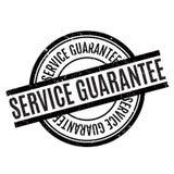 Rubber stämpel för tjänste- garanti Arkivfoton