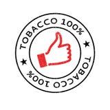 Rubber stämpel för tobak 100 Arkivfoton