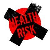 Rubber stämpel för vård- risk stock illustrationer