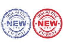 Rubber stämpel med revolutionär ny innovativ formel för inskrift Royaltyfri Bild