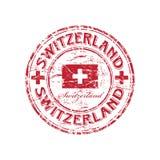 rubber stämpel switzerland för grunge Arkivfoton