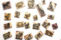 Rubber stämplar av vilda djur Arkivbild