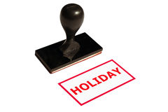 Rubber stamp. With inscription HOLIDAY Royalty Free Stock Photo