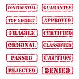 Rubber stamp. Collection of grunge rubber stamp Royalty Free Stock Image