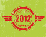 A rubber stamp for 2012. 2012 celebration rubber stamp, grunge art Stock Image