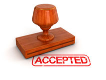 Rubber Stamp Accepted (clipping path included) Stock Images
