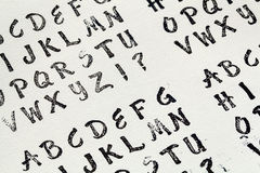 Rubber stamp alphabet Royalty Free Stock Images