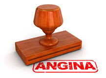 Rubber Stamp angina (clipping path included) Royalty Free Stock Photos