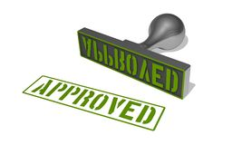 Rubber stamp approved Royalty Free Stock Photos