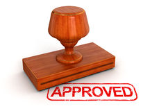 Rubber Stamp Approved (clipping path included) Stock Images
