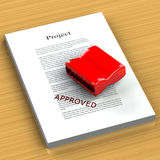 Rubber Stamp Approved Royalty Free Stock Image